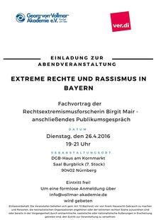 """160426_Vortrag """"Extreme Rechte in Bayern"""""""