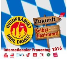 Internationaler Frauentag 2016 - Flyer