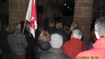 Foto von 09. 11 2014 Gedenkveranstaltung Reichspogromnacht Rathaus Schwabach