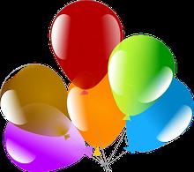 Grafik von bunten Luftballons