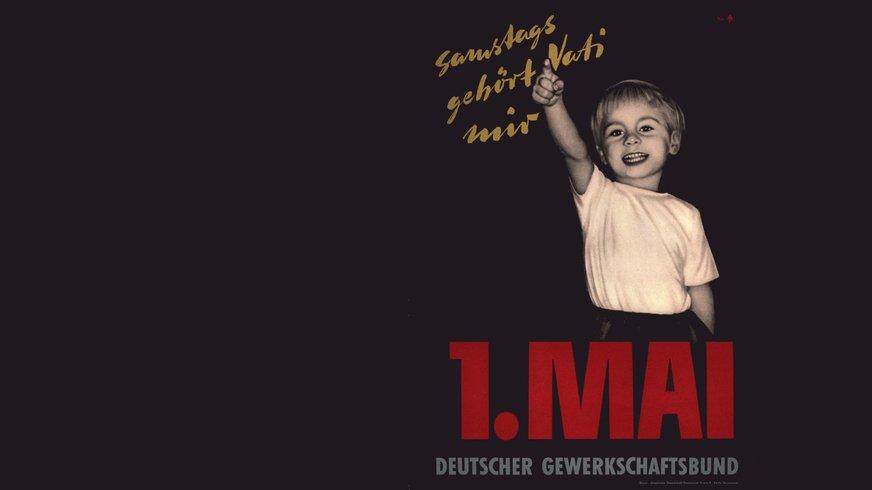 Plakat des DGB zum 1. Mai 1956