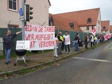 Foto von Warnstreikaktion in Ansbach am 20.10.2014
