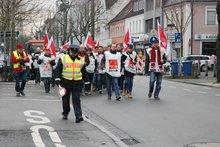 Streikdemo in Erlangen