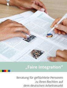 """Bild von Flyer """"Faire Integration"""" von IQ-Netzwerk"""