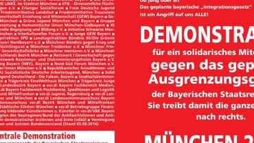 Bild von ver.di bzgl. Ankündigung der Deminstration am 22.10.18 in München