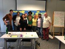 Gruppenbild mit Kollege Romin Khan