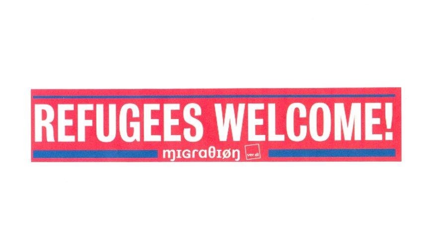 "Logo §Refugees welcome""  vom BundesmigrA"