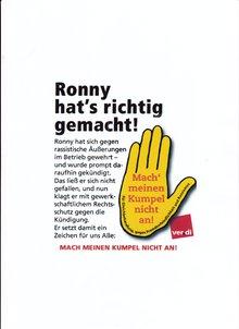 gelbe Hand mit ver.di-Logo