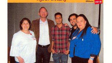 Kollege Frank Werneke und Kollegen vom Migrationsausschuss Mittelfranken