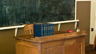 Schulpult und Tafel