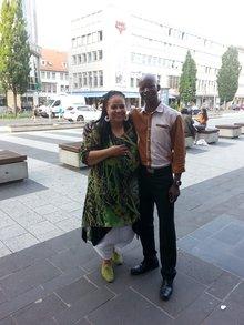 Die Kollegen: Charly Johnson und Hamdo Dipama