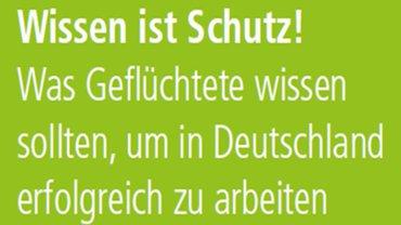 Titelbild der Infobroschüre: Wissen ist Schutz