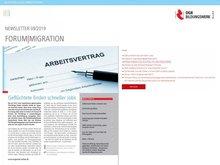 Bild der September- Ausgabe des Forum Migration vom  DGB Bildungswerk Bund