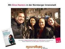 Die AGABY Kollegen: Ludwig und Katja, Cjarly vom verdi- MigrA und Alice Hasters