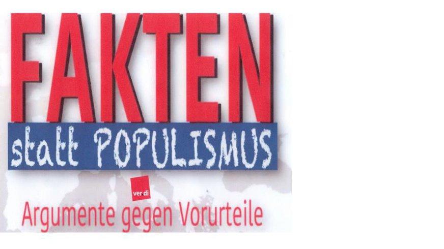 Infografik Fakten statt Populismus