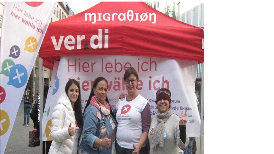 Aktion: Symbolische Wahlen in Nürnberg vom MigrA Mfr. in 2017