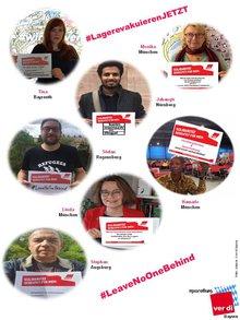Bilder aus Soli-Fotoaktion LandesmigrA: Das bedeutet Solidarität für mich