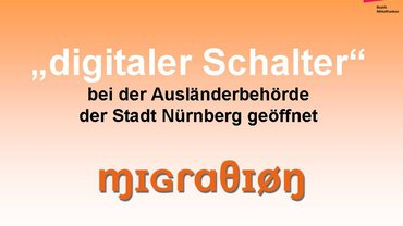 """""""digitaler Schalter"""" bei der Ausländerbehörde der Stadt Nürnberg"""