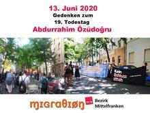 Teilnehmer der Gedenkkundgebung am 13.06.2020