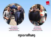 Bilder mit MdL A. Tasdelen & Stadtrat T. Brehm und MigrA-Kollegen