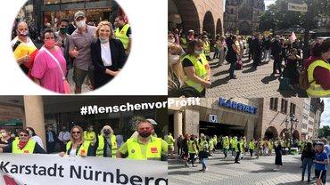 Bilder von der Demo in der Karolinenstraße am 30.06.2020