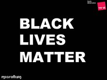 Schriftzug: BLACK LIVES MATTER