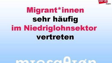 Migrant*innen sehr häufig im Niedriglohnsektor