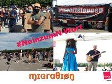 Fotos von Demo zum N-Wort