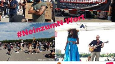 Fotos von der Kundgebung zum N-Wort