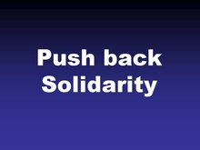 Infografik zu Push back Solidarity