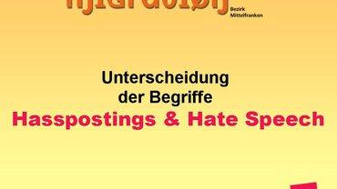 Hasspostings und Hatespeech