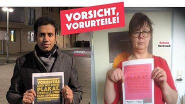 Bild  von Jahangir und Belinda / MigrA zur Kampagne Vorsicht Vorurteile