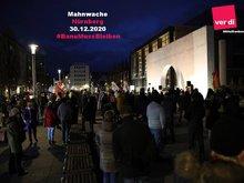 Teilnehmer der Mahnwache vom 30.12.2020