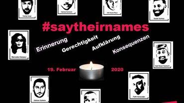 schwarz weiß Bilder der Opfer von Hanau
