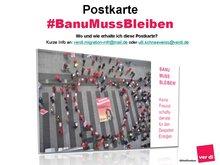 Bild der Postkarte #BanuMussBleiben