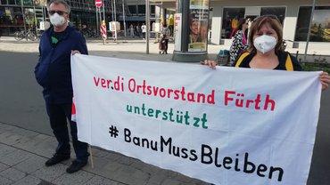 """Banner für die Aktion """"Ein Herz für Banu"""""""
