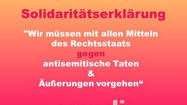 Infografik mit Text gegen Antisemitismus