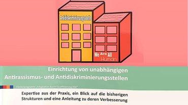 Bild des Handebuches: Einrichtung von unabhängigen Antirassismus-und Antidiskriminierungstellen