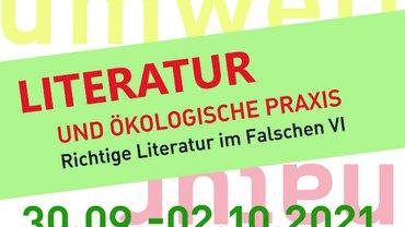 Logo für die Veranstaltung Literatur und ökologische Praxis